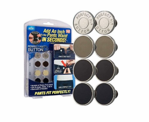 Best Review Of Perfect Fit Instant Button - Adds an Inch to Any Pants Waist In Seconds! -
