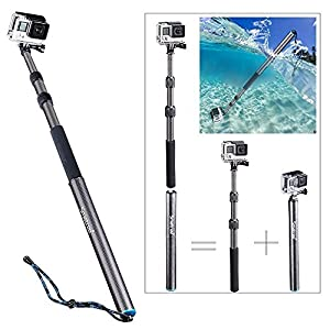"Smatree SmaPole S3C Carbon Fiber Detachable and Extendable Floating Pole for GoPro Hero, Hero4, Hero4 Session, 3+, 3, 2, 1 HD Cameras (12.5""-39.5"")"