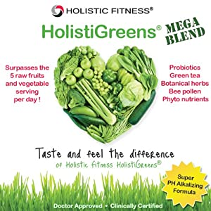 HolistiGreens® Mega Blend Greens Super Food - Made in the USA - Cleanse & Detoxify the Body
