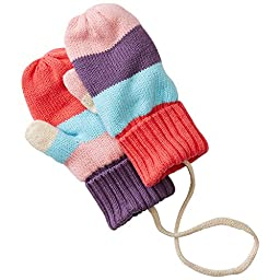 Hanna Andersson Baby Baby Stripey Mouse Mittens, Size XS (24 Months), Pink Multi