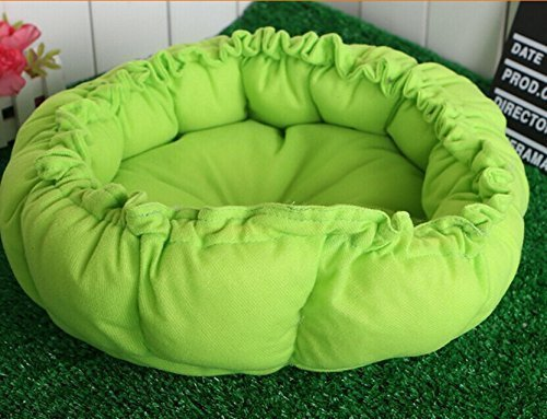 Yosoo Multifunction 2 in 1 Pet Bed Cotton Soft Washable Pet Kennel Nest Puppy Warm Dogs Cat Bed Cute Sleeping Bag House Cushion Mat (Green)