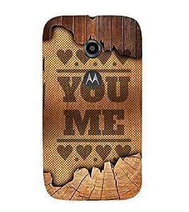 You Love Me Design Cute Fashion 3D Hard Polycarbonate Designer Back Case Cover for Motorola Moto E2 :: Motorola Moto E Dual SIM( 2nd Gen) :: Motorola Moto E 2nd Gen 3G XT1506 :: Motorola Moto E 2nd Gen 4G XT1521