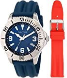 Nautica Mens N12635G NAC 102 Date Box Set Classic Analog Watch