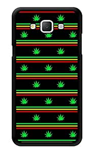 """Humor Gang Rasta Grass Pattern Printed Designer Mobile Back Cover For """"Samsung Galaxy j5"""" (3D, Glossy, Premium Quality Snap On Case)"""