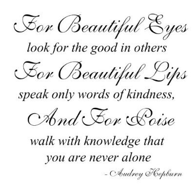 Quote by Audrey Hepburn for Beautiful Eyes