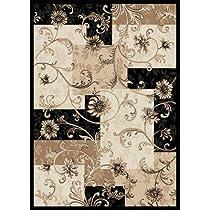 Home Dynamix Optimum 11025-450 5-Feet 2-Inch by 7-Feet 2-Inch Area Rug, Black