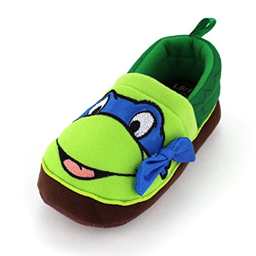 Tmnt Ninja Turtles Kids Leonardo A-Line Slippers (L (9/10 M Us Toddler))