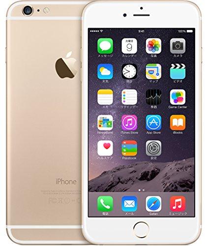 【米国正規品】SIMフリー iPhone 6 Plus アップル Apple 5.5インチ 1080P 光学手ブレ補正 (16GB, ゴールド Gold)