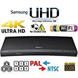 SAMSUNG M9500 UHD - Wi-Fi - Dual HDMI - 2K/4K - Region Free Blu Ray Disc DVD Player - PAL/NTSC - USB - 100-240V 50/60Hz for World-Wide Use & 6 Feet Multi System 4K HDMI Cable (Color: Black)