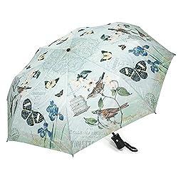 Birds in Garden Auto-Open Umbrella