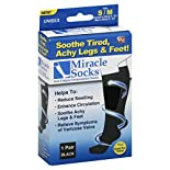 Miracle Socks Socks, Unisex, S/M, Black, 1 pair
