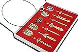 Legend of Zelda 12 Pieces Keychain/necklace/ornament Collection Box Set (Bronze Color)