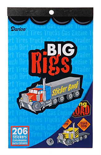 Darice Sticker Book - Big Rigs - 206 stickers