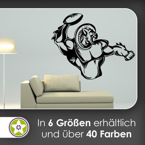 Football biest adesivo da parete in 6misure-adesivo da parete adesivo da parete, 92_kupfer, 60 x 47 cm