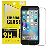 STS iPhone 6 6S Screen Protector, 9H Tempered Glass Screen Protector [HD Clarity] 3D Touch Compatible Oleophobic