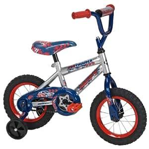 Huffy Boy's Pro Thunder Bike (12-Inch, Silver/Blue)