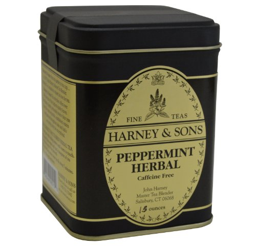 Harney & Sons Fine Teas Peppermint Herbal Caffeine Free Loose Tea Tin 1.5 Oz