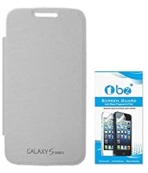 TBZ Flip Cover Case for Samsung Galaxy S Duos 3 with Screen Guard -White