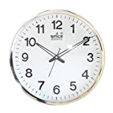 Spice Wall Clock - Silver Ring - Plastic Wall Clock (33.5cm*33.5cmx6.25cm)