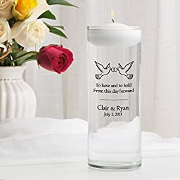 Personalized Floating Wedding Unity Candle- To Have and To Hold