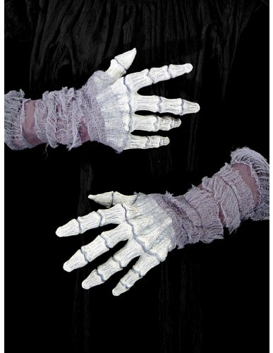 Morris Costumes Women's Ghastly Bone Hands with Gauze