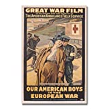 Trademark Art Victor Tardieu Our American Boys in The European War Canvas Art, 16 by 24-Inch