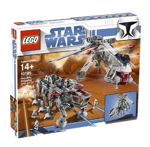 LEGO Star Wars Republic Dropship with AT-OT Walker (10195) (Discontinued by manufacturer) by LEGO (Star Wars Dropship)