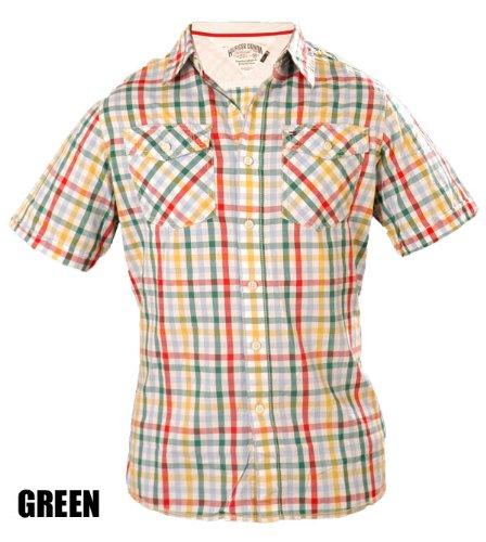 Tommy Hilfiger -  Camicia Casual  - A quadri - Maniche corte  - Uomo verde Large