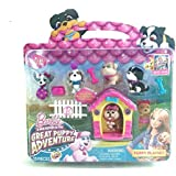 Barbie Great Puppy Adventure 13 Piece Puppy Playset with Pink Doghouse