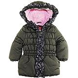 Pink Platinum Little Girls' Ruffle Puffer Jacket