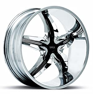 Chrome w/ Black Inserts STATUS DYSTANY S822. 18 Inch Chrome Rims