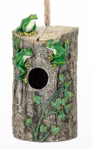 Spoontiques Frog Stump Birdhouse