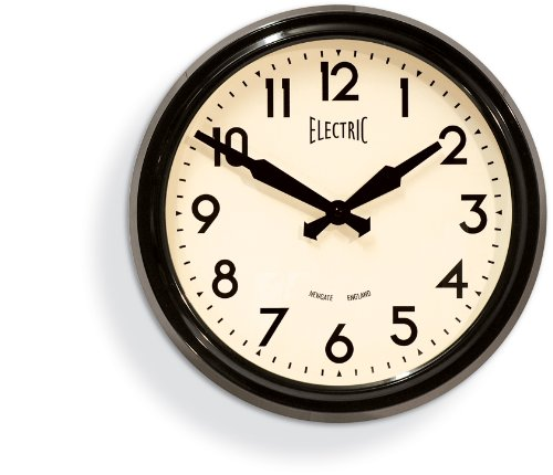 Newgate 50's Black Electric Wall Clock