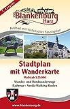 Blankenburg - Harz: Stadtplan mit Wanderkarte