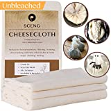 Cheesecloth, Grade 90, 36 Sq Feet, Reusable, 100% Unbleached Cotton Fabric, Ultra Fine Cheesecloth for Cooking - Nut Milk Bag, Strainer, Filter (4Yards)