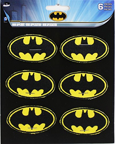 Application DC Comics Batman Logo Embroidered Fabric Wristband with Velcro Closure
