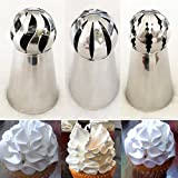 Cake Decorating Supplies NEW 3pcs/set Sphere Ball Tips Russian Icing Piping Nozzles Tips Pastry Cupcake