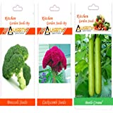 Alkarty Broccoli, Cockscomb And Bottle Gourd Seeds Pack Of 20