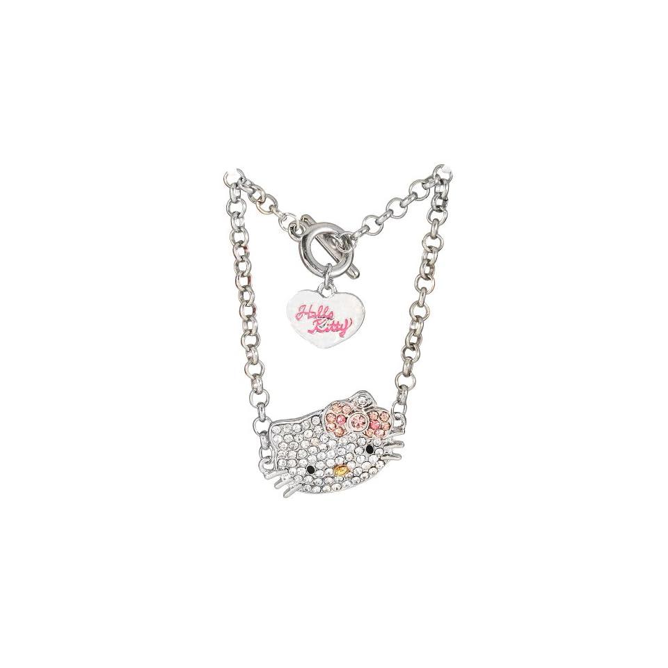 Hello Kitty rhinestone charm bracelet   pink bow