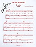 """Anna Nalick - Singer-Songwriter - Autographed """"Breathe (2AM)"""" Sheet Music"""