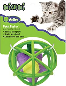 Go Cat Go Cat Toy, Flower in Cage, Petal Pusher