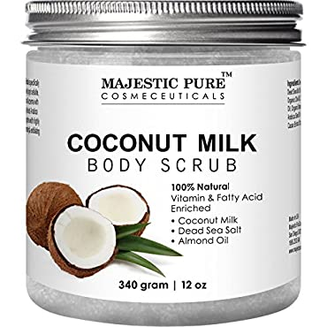 Sweet coconut and a touch of 6 essential oils abundant with vitamins A, B and E and full of fatty acids are all wrapped up in the warm hug of our Coconut Milk Bath Scrub. There is no better way to finish a shower or bath than with this body polish sc...