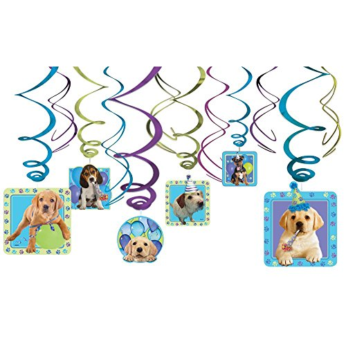 Amscan BB101069 Party Pups Hanging Decorations