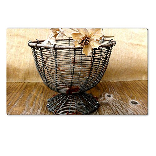 MSD Large Table Mat Vintage Wire Basket with Wicker Rim Antiques French Primitive Storage by oldamsterdam on http www etsy com listing 108258873 liked by wickerparadise visit our wicker furniture sele (French Wire Egg Basket compare prices)