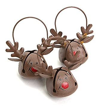 Reindeer Jingle Bell Ornaments by Century Novelty (English Manual)