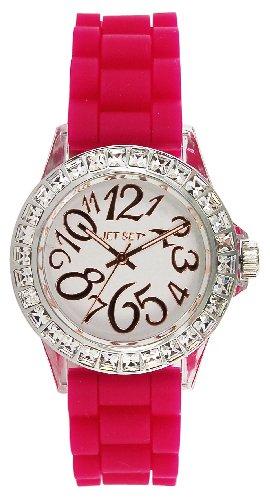 Jet Set J56904-615 - Reloj analógico para mujer de caucho Resistente al agua blanco