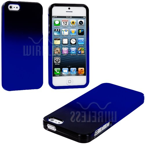>>  myLife (TM) Blue + Black Two Tone Series (2 Piece Snap On) Hardshell Plates Case for the iPhone 5/5S (5G) 5th Generation Touch Phone (Clip Fitted Front and Back Solid Cover Case + Rubberized Tough Armor Skin + Lifetime Warranty + Sealed Inside myLife Authorized Packaging)