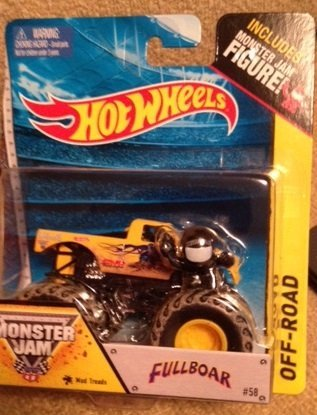 Monster Jam FULLBOAR Mud Treads #58 hot wheels off-road includes monster jam figure - 1