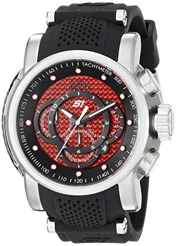Invicta Men's 19319 S1 Rally Analog Display Quartz Black Watch (Carbon Fiber Dial Watch compare prices)