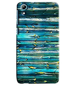 Blue Throat Blue Wooden Hard Plastic Printed Back Cover/Case For HTC Desire 826